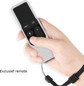 Apple TV 4 afstandsbediening siliconen game hoesje (wit)