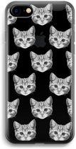 iPhone 7 Transparant Hoesje (Soft) - Kitten
