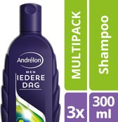 Andrélon Classic Iedere Dag For Men Shampoo - 3 x 300 ml - Voordeelverpakking