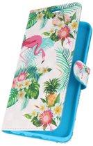 Samsung Galaxy S9 Plus 3D Print Flamingo   bookstyle / book case/ wallet case Hoesje    WN™