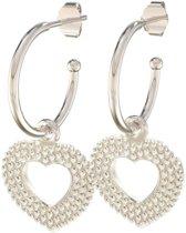 Lora di Lora Oorbellen 22 Romance. Unieke oorbellen met bedeltjes 925 Sterling Zilver 1.5 cm