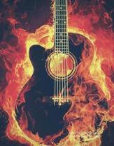 Guitar Fire Music Notebook - Guitar Tab Songwriter Journal