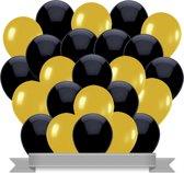 Ballonnen Zwart / Goud (30ST)