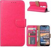 Nokia 4.2 - Bookcase Roze - portemonee hoesje