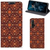 Honor 20 Hoesje met Magneet Batik Brown