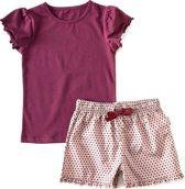 zomer pyjama t-shirt meisjes - pink dot