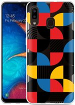 Galaxy A20 Hoesje Abstract Pattern