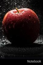 Notebook: アップル、レッド、ブラック、Ӣ