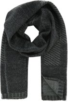 Profuomo sjaal knitted scarf antra grey_ONESIZE, maat One size