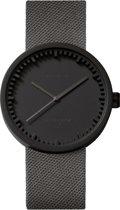LEFF amsterdam - Horloge - Tube watch D38 - Zwart met Grijs Cordura (textiel) band - Ø 38mm - LT71015