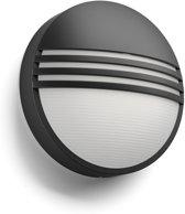 Philips myGarden Yarrow - Wandlamp - 1 Lichtpunt - zwart - 1 x 600lm
