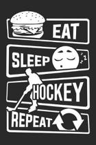 Eat Sleep Hockey Repeat: Blank Sketch Paper Notebook with frame for People who like Humor Sarcasm