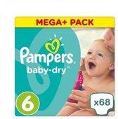 Pampers Baby Dry - Maat 6 (XL) - 15+ kg  - 68 stuks - Luiers