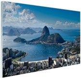 FotoCadeau.nl - Rio de Janeiro landschap Glas 90x60 cm - Foto print op Glas (Plexiglas wanddecoratie)