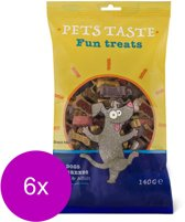 Pets Taste Snack Mix Kip&Rund&Lam - Hondensnacks - 6 x 120 g