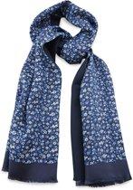 We Love Ties Herensjaal Fleurs Sauvages, blauw