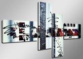 All Art - Canvas Schilderij Vierluik 160 x 70 cm