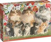 Francien's Kattenfamilie 500 stukjes