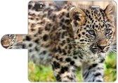 Huawei Ascend P8 Lite Uniek Design Hoesje Baby Luipaard