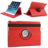 Apple iPad 2, 3 en 4 Swivel Case, 360 graden draaibare Hoes, Cover met Multi-stand - Kleur Rood