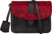 BURKELY EVENING Hairon-on x-over Dames Crossbodytas - Cheetah rood