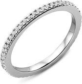Majestine 9 Karaat Full Eternity Ring Witgoud (375) met Diamant 0.23ct maat 54