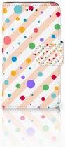 Samsung Galaxy Core i8260 Bookcase hoesje Design Dots