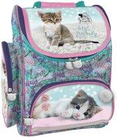 Cleo en Frank - Ergonomische schooltas - 37x27x16cm - kittens