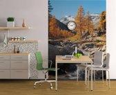 Berglandschap met beekje  - Fotobehang 194 x 270 cm