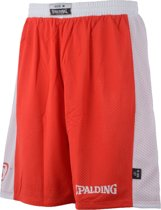 Spalding Essential Reversible  Basketbalbroek - Maat L  - Mannen - rood/wit