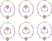 Small Foot Halskettingen en Armbanden 12 stuks paars