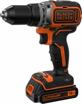 BLACK+DECKER - BL186K1B2-QW - Brushless accuschroef-/boormachine met 2X 18V 2.0Ah Lithium-Ion accu, koffer en lader