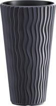 Bloempot Buiten Hoog Rond Sandy Slim 30cm ANTRACIET Prosperplast