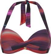 Ten Cate Halter Bikinitop TC WOW Zwart/Rood/Paars - Cupmaat 36C