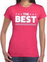 The Best tekst t-shirt roze dames - dames shirt  The Best XS