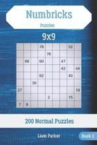 Numbricks Puzzles - 200 Normal Puzzles 9x9 Book 2