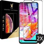 iCall - Samsung Galaxy A70 Screenprotector - Tempered Glass Gehard Glas - Full Screen Cover Volledig Beeld - 2 Stuks