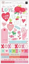 Pink Paislee • Lucky Us cardstock stickers 76pc