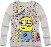 Minions-T-shirt-met-lange-mouw-grijs-maat-152