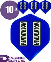 abcdarts pentathlon 10 sets flights blauw