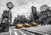Fotobehang New York City Cabs | XL - 208cm x 146cm | 130g/m2 Vlies