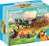 Afbeelding van PLAYMOBIL Luckys vader en wagen - 9477 speelgoed