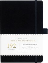 Archer & Olive Notitieboek A5 Dotted - Black (192 pagina's)