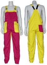 Yoworkwear Tuinbroek polyester/katoen fuchsia maat 140