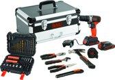 BLACK+DECKER BCD001BAHFC Schroef-/boormachine - 18V - 50 accessoires en 6 handtools - flightcase