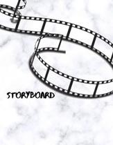 Storyboard: Storyboard Sketchbook Journal Novelty Gift for Creative Diary for Film Director, Blank panels Draw or Write In Ideas