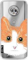 Casetastic Smartphone Hoesje Softcover Motorola Moto G6 - Little Cat