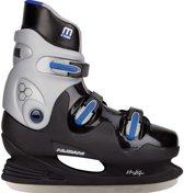 Nijdam 0089 Ijshockeyschaats - Hardboot - Maat 44 - Zwart/Blauw