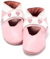 Babyslofjes roze met hartjes