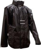 Ralka Regenjas - Kinderen - Unisex - Zwart - Maat 128